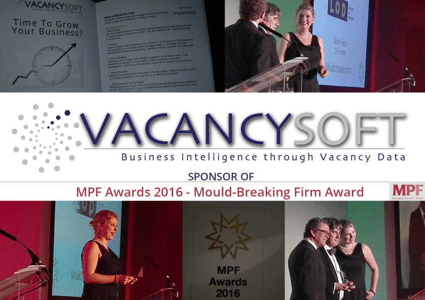 We were honored to sponsor the MPF award in the mould-breaking firm category!