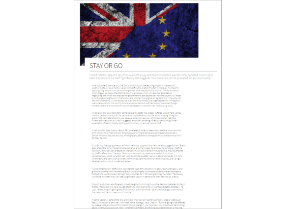 James Chaplin quoted in The Global Recruiter article on implications of Brexit for the industry