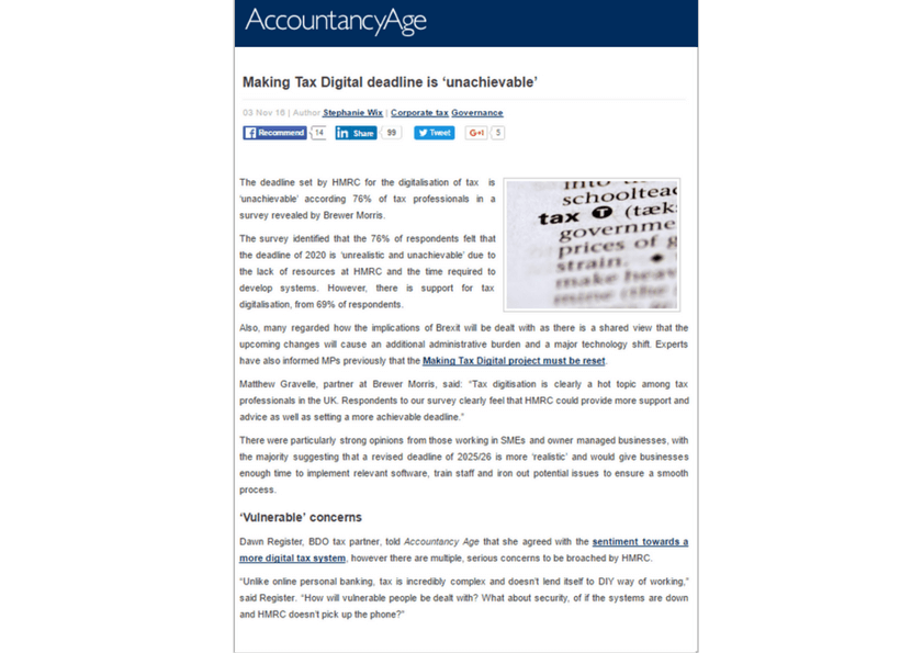 Vacancysoft/ Brewer Morris Upcoming Report featured in Accountancy Age