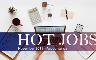 Hot Jobs November 2018 – Accountancy
