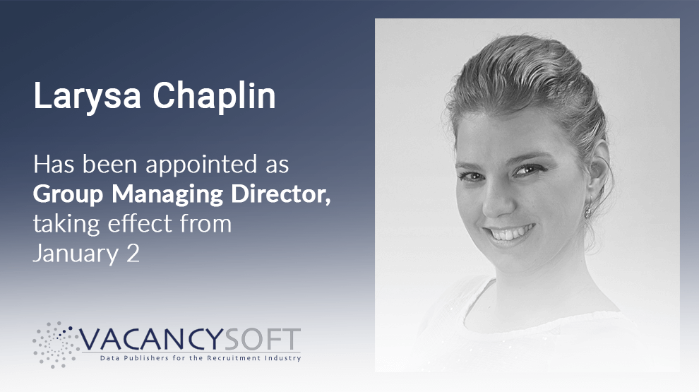Larysa Chaplin has been appointed as Group Managing Director
