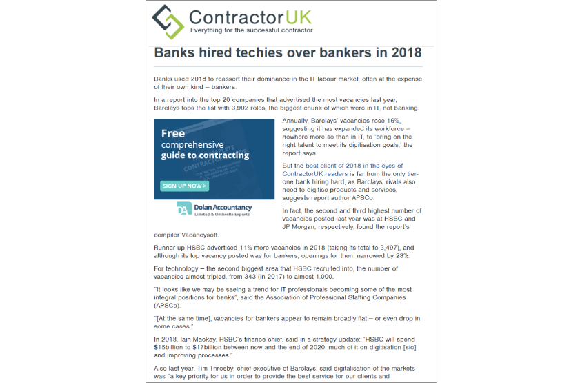 Vacancysoft & APSCO Report Featured In Contractor UK